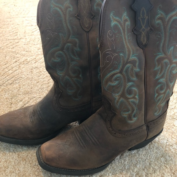 Women s Justin stampede square toe cowboy boots. M 5aa9cb9e3a112e104ab26aca 7b47ebc2fc